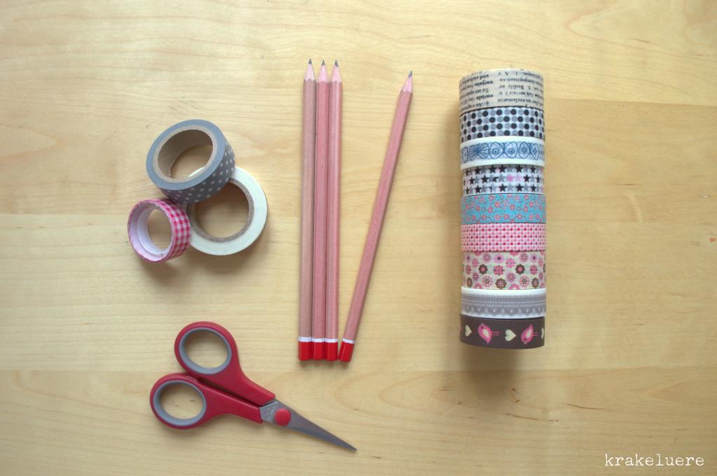 Material kostümierte Bleistifte