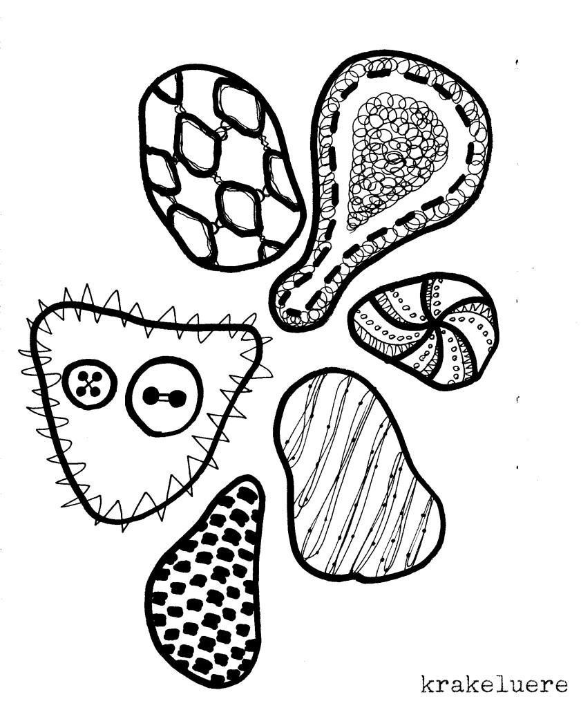 Kritzelei: Muster in s/w 5