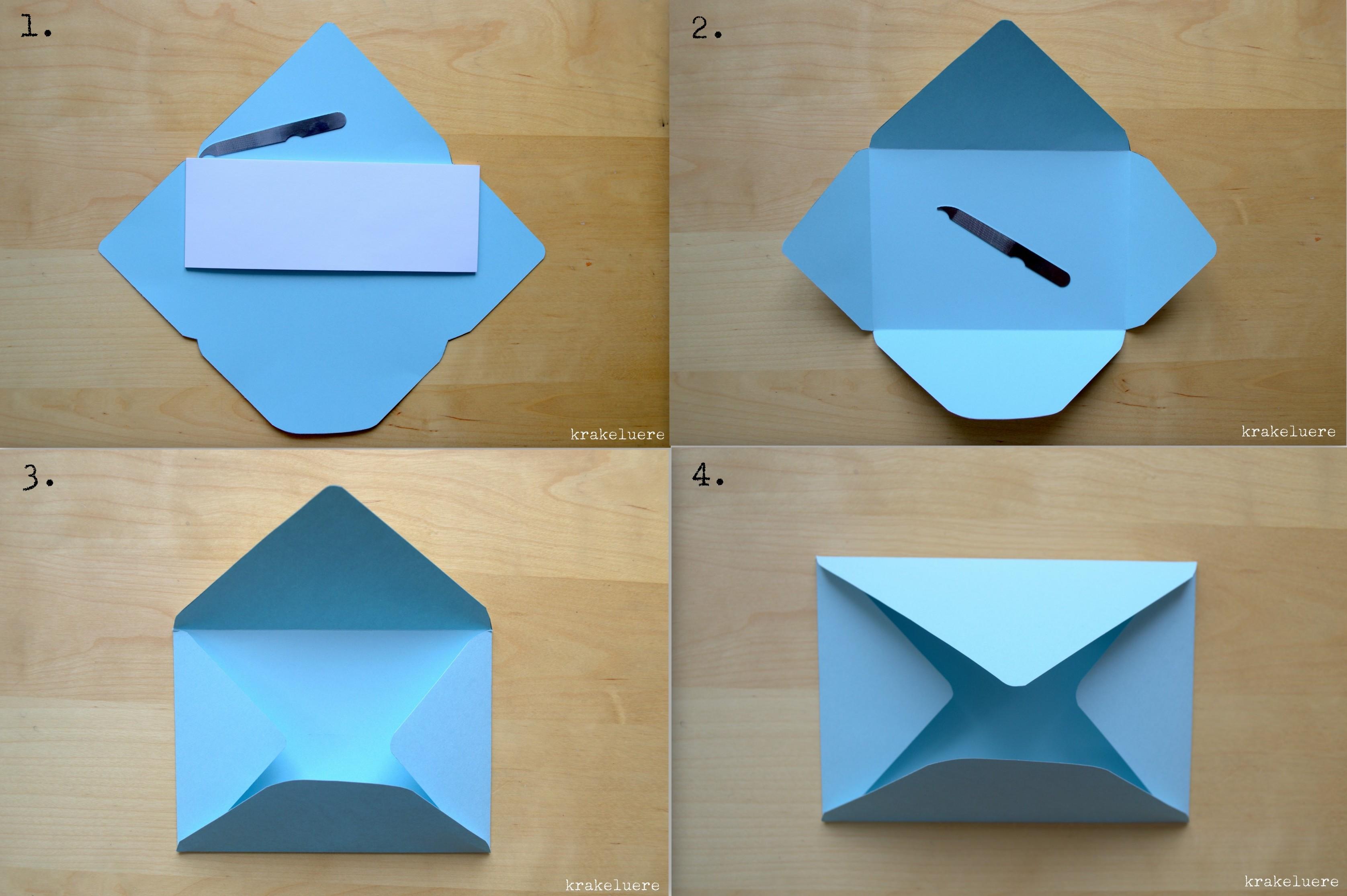 Brief Falten Ohne Kleben : Briefumschlag basteln a my