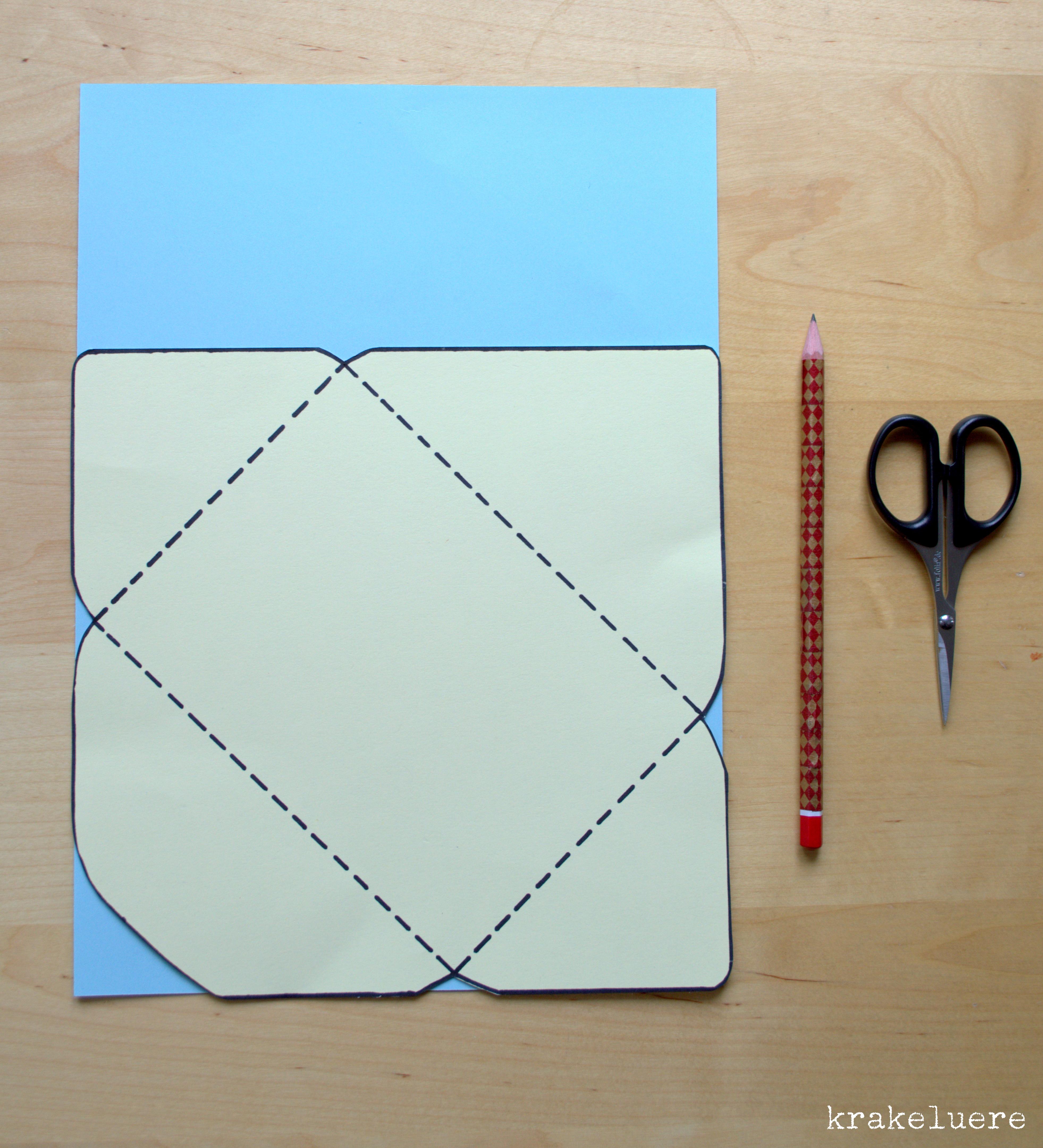 Briefumschläge Falten : Krakeluere briefumschläge basteln