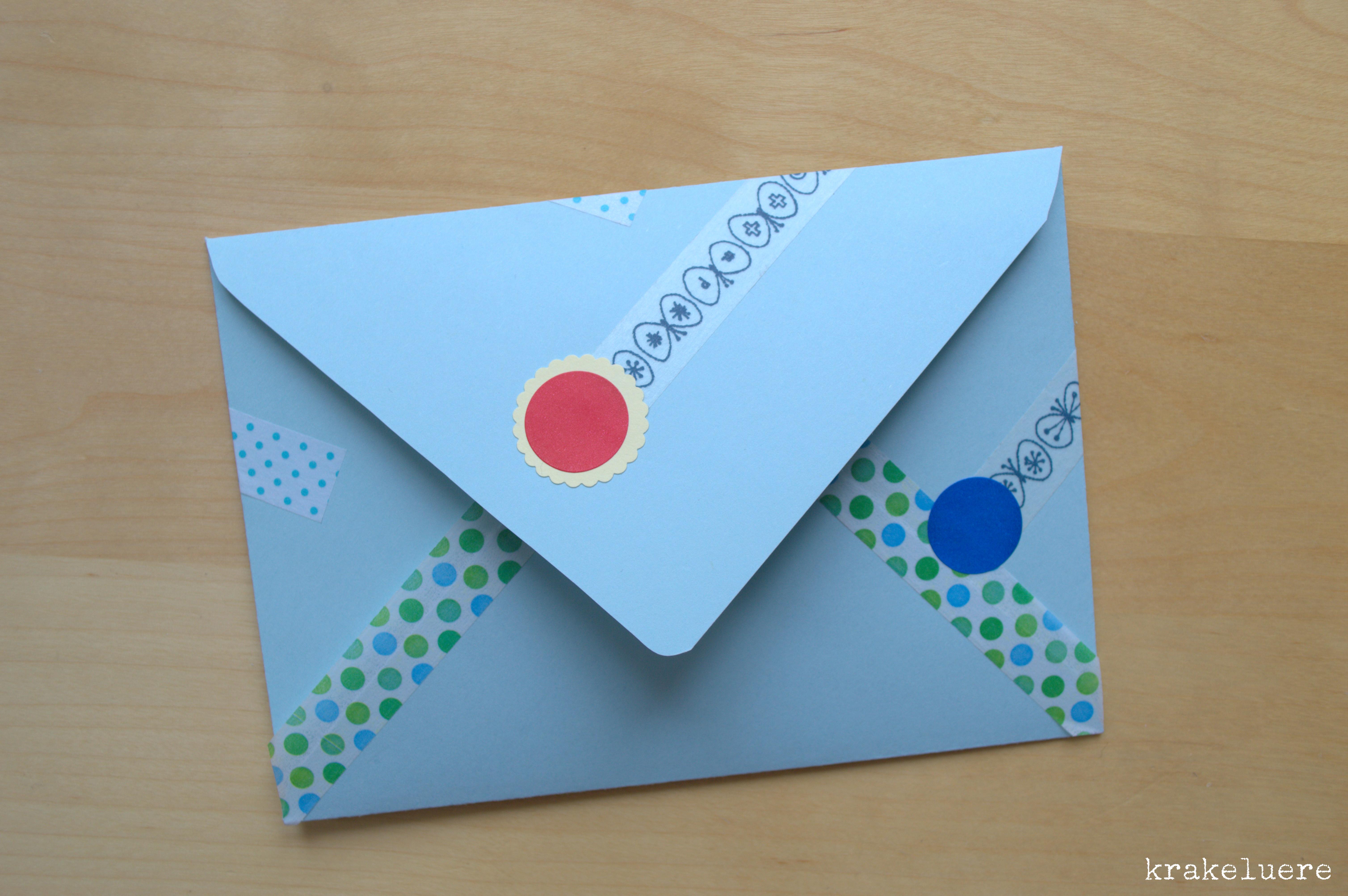 Krakeluerede Briefumschläge Basteln