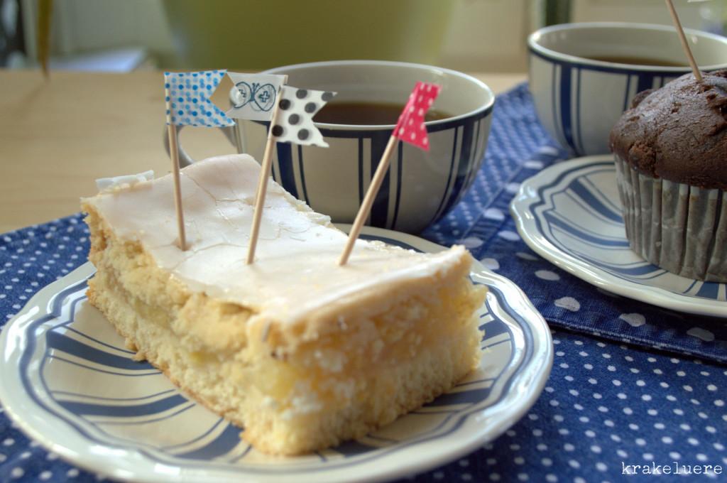 Fähnchen mit Kuchen - krakeluere.de
