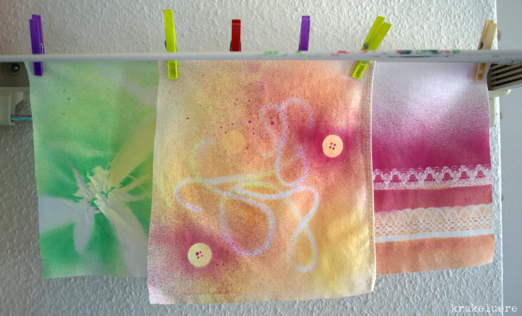 Experimente mit Textilsprühfarbe Marabu - krakeluere.de