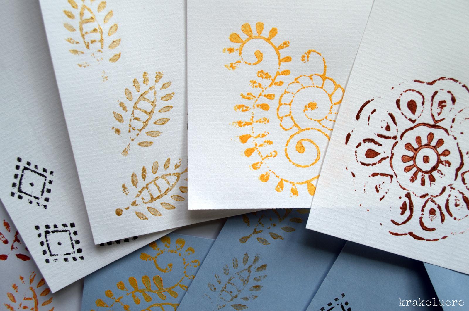Briefpapier Gestalten : Krakeluere kalamkari briefpapier