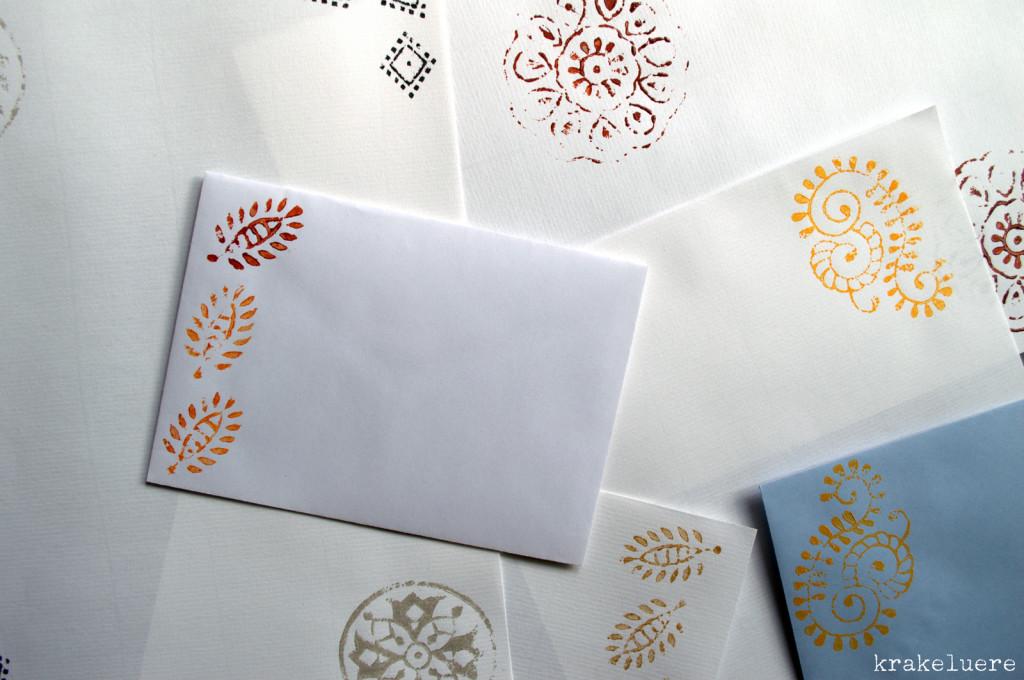 Kalamkari-Briefpapier - krakeluere.de