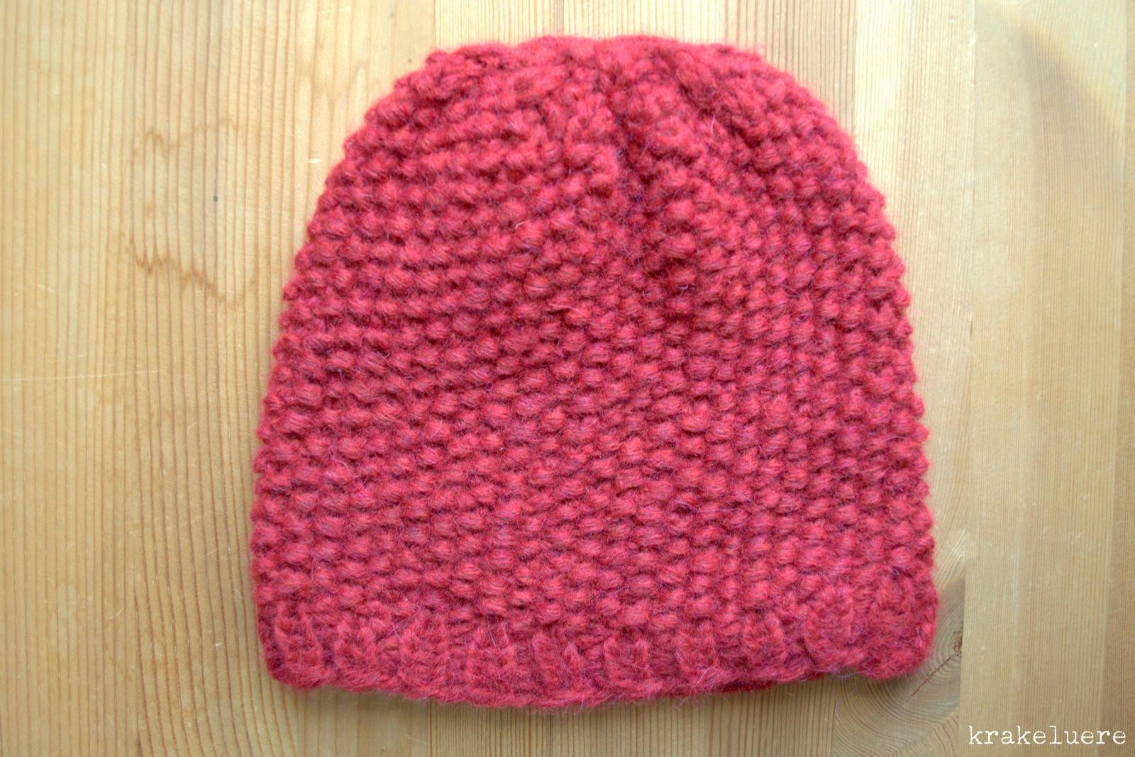 krakeluere.de - kuschlig-warme Mütze im Perlmuster